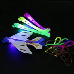 Luminous Helicopter Toy Australia - LED Luminous Ejection Plane Amazing FlashToys LED Arrow Helicopter Toys LED Plane Dolls Flicker Flying Plane Children's Toys Christmas Gifts