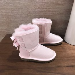 fur snow boots wide calf Australia - suit New Children Boots Australia Girls Boys Snow Boots Baby Winter boot Fur girl Warm Boots for Kids 09193
