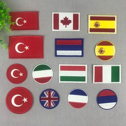 $enCountryForm.capitalKeyWord Australia - Russia Turkey Britain USA Spain Canada Italy France Flag stickers iron on Patches for clothes DIY Personality Embroidery badges