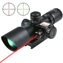 Wholesale Hunting Rifle Scope x40 e Red Green Illuminated Mil dot Gun RifleScopes Optics Sight Scope with mm mm Mount