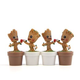 Miniature Figures Australia - Baby Flowerpot Figure Action Pop Galaxy Groot Miniatures Mini Garden Flower Pot Chibi Tree Man C19041901