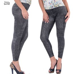 Ladies jeans sexy girLs online shopping - Girl Lady Black Pants Sexy Faux Jean Skinny Stretchy With Plus Size Ankle Length Pants Women Jeans Slim High Quality