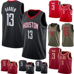 14345c3a1172 2019 Men s James 13 Harden Hakeem 34 Olajuwon jerseys Chris 3 Paul 100%  stitched Jersey basketball
