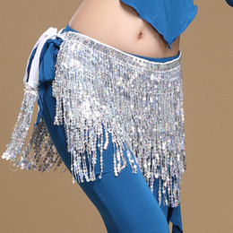 $enCountryForm.capitalKeyWord Australia - 2018 Women Belly Dance Clothes Accessories Tassel Belts Ladies Belly Dance Hip Scarf Sequins Belt 12 Colors