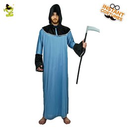 $enCountryForm.capitalKeyWord Australia - Men's Halloween shredded robe costume Grim Reape cosplay party blue Scary Demon Halloween party cosplay shredded robe costume