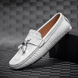 $enCountryForm.capitalKeyWord Australia - Luxufy Brand Men Loafers Tassel Driving Shoes Genuine Leather Men Flats Breathable Casual Shoes Male Moccasins Blue White Black