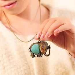 $enCountryForm.capitalKeyWord Australia - Bohemian wind elephant wool chain, retro gem diamond long money chain jewelry wholesale