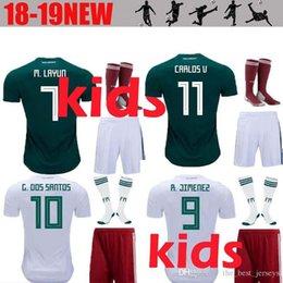 17db11e53 Mexico Kids soccer jersey 2018 2019 football shirt 18 19 G.DOS SANTOS  Hernandez R.MARQUEZ CHICHARITO children boys Jerseys