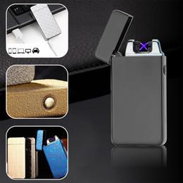 $enCountryForm.capitalKeyWord Australia - Classic Double arc Lighter for Cigarettes Smoking Electronic USB Recharge Lighters Inovation Electric Plasma Briquet Gadget Gift