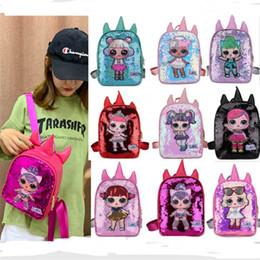 $enCountryForm.capitalKeyWord Australia - Women's Sequins Shoulder Bag Surprise Girls Backpacks Cute Cartoon Schoolbag Bookpacks Sequined Handbags Sports Shop Totes Beach Bags B71802