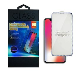 $enCountryForm.capitalKeyWord Australia - Plating Diamond Full Cover Tempered Glass For iPhone XR X XS MAX Screen Protector For iPhone 6 7 8 Plus With Retail Package