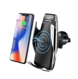 Wholesale Car Wireless Charger For iPhone Xs Max Xr X Samsung Intelligent Infrared Fast Wirless Charging Car Phone Holder