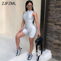 $enCountryForm.capitalKeyWord Australia - Zjfzml Sexy Bodysuit Women Sleeveless Playsuit Back Zipper Bodycon Jumpsuit Short Rompers Womens Jumpsuit Party Club Body Femme Y19051601