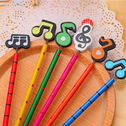 $enCountryForm.capitalKeyWord Australia - Cartoon Musical Note Pencil Advanced Wooden Writing Pen Color Note Spring Toy HB Pencil Environmental Kids Birthday Gift 57