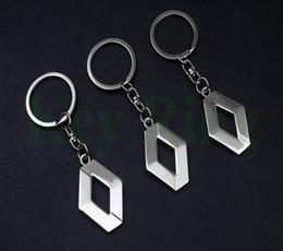 $enCountryForm.capitalKeyWord Australia - 3D Metal Car Key Ring for Renault Fashion Brand New Auto Supplies Renault Emblem Keychain Reynolds Keyring Car Accessories Key Chains