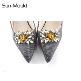 $enCountryForm.capitalKeyWord Australia - 1pair new arrival shoes flower charms bridal high-heel pumps accessories crystal diamond shoe clips wedding decoration buckle
