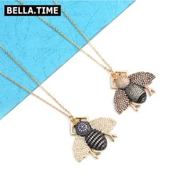 $enCountryForm.capitalKeyWord Australia - 4 Colors Boho Long Bee Insect Pendant Necklaces For Women Adjustable Gold-color Chain Lady Honeybee Charm Necklace Bijoux NKS220