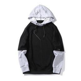 Plain Clothes Australia - Streetwear Plain Hoodies For Men Clothes Spring Autumn Long Sleeves Oversize Hooded Casual Sweatshirt male Black Gray
