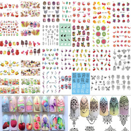 pattern decor Australia - 58Sheets Fruit Necklace Jewelry Pattern Nail Stickers Nail Art Water Transfer Stickers Mixed Nail Tips Decals Decor BESTZ455-512 D18120801