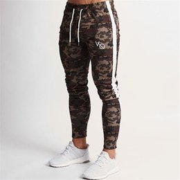 Leopard Men Trouser Pant UK - 2019 New Men Camouflage Gyms Joggers Brand Male Trousers Casual Pants Sweatpants Jogger Casual Elastic Cotton Rack