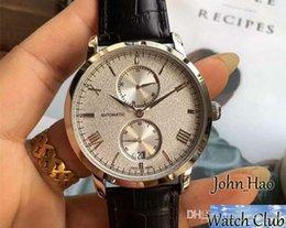 Опт 2019 новые розовые золотые мужские часы автоматика назад прозрачный кожаный ремешок четырехконтактный многофункциональный