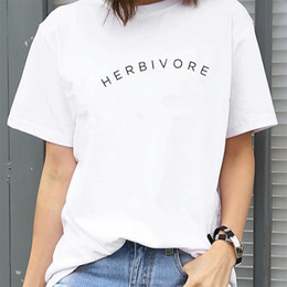 d9908fba Herbivore T-shirt Funny Tumblr Blogger Slogan Women Vegan Clothes Black  White Tee Shirt Femme Harajuku Shirt Causal Tops Xxl C19041702