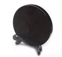 $enCountryForm.capitalKeyWord UK - New arrivals high quality 100% natural black obsidian stone circle disk round plate fengshui mirror for home & office decor