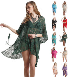 d60950bfc6 Swimsuit Beach Cover Up Dresses Women Summer Sexy Mesh Knitted Crochet Swimwear  Bikini Cover Ups Wrap Bathing Suit Top Wholesale