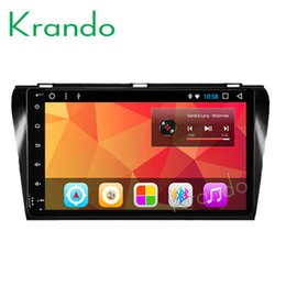 "Touch Screen Car Radio Navigation Australia - Krando Android 8.1 10.1"" IPS Big Screen Full touch car navigation system for Mazda 3 2004-2009 audio player radio gps BT wifi car dvd"