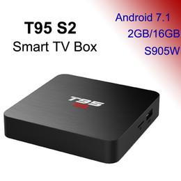 Box S2 Australia - 2GB 16GB TV Box Android 7.1 Smart Mini PC 2G16G Media Player 2.4G Wifi TVbox 4K 3D Home Movie T95 S2 Wholesale