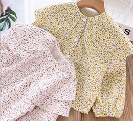 $enCountryForm.capitalKeyWord Australia - Autumn 2019 Girl Printed floral Shirts Kids Girl Princess Cotton Blouse Children Double Collar tops baby clothes