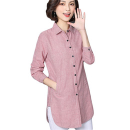 d6dc6d85fd3e56 Long Sleeve Blouses For Work Australia - Vogorsean Women Striped Blouse  Shirts Spring Autumn For Lady