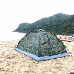 camouflage person tents NZ - Outdoor Camouflage Beach Tent Camping Tent for 2 Person Single Layer polyester fabric Tents PU1000mm Carry Bag Travel
