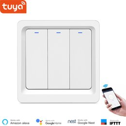 wifi controlled light switch Australia - Tuya Smart APP WiFi Light Switch Wall Smart Physical Button Switch APP Remote Control EU 86 Type Alexa Compatible 100~240V IFTTT
