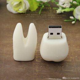 $enCountryForm.capitalKeyWord Australia - White Tooth CUTE Model USB 2.0 Flash Drive Memory Stick Storage U Disk