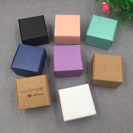 $enCountryForm.capitalKeyWord Australia - 50 pcs Mini rectangle Paper Candy Boxes For Baby Shower gift box Birthday Wedding Party Favor Box 4x4x2.5cm