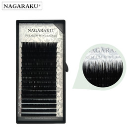 2d976b726ef NAGARAKU wholesale 7~15mm MIX 16rows case naturally-artificial mink eyelash  extension individual eyelashes mink lash premium faux eyelashes