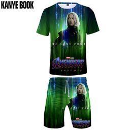 $enCountryForm.capitalKeyWord Australia - 2019 New design Marvel t shirt set endgame O-neck Short sleeve Casual shorts Summer beach pants Fashion men's clothing