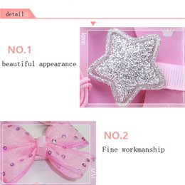 hair clip princess character UK - 18Pcs Set Baby Accessories Cute Kids Infant Princess Hairpin Baby Girls Bowknot Flower Motifs Hair Clip Set Gift Box Props