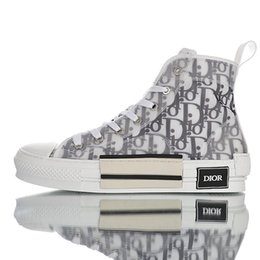 19SS Dior Homme oblíqua Converse Oblique B23 B24 AJ1 X KAWS por Kim Jones Homens Mulheres Moda Designer Triple S Sapatos casuais de alta-top Skate Sapatos em Promoção
