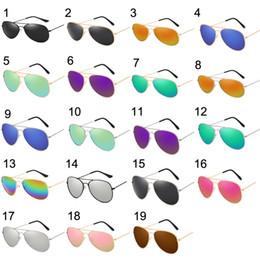 336d468bfc 19 colores Unisex gafas de sol con montura de metal AVIATOR Gafas Espejo  Protección UV Marco de oro plateado negro Gafas de color verde azulado