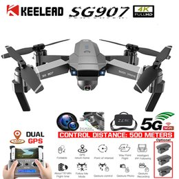 Gps professional online shopping - KEELED SG907 Drone GPS positioning K Gimbal G WIFI Dual Camera Drone Professional gps return home Foldable Quadcopter RC dron T191016