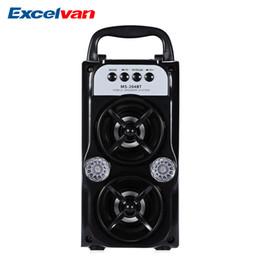 Vente en gros Haut-parleur bluetooth EXcelvan MS-204BT haut-parleur Portable Haute puissance de sortie FM sans fil Bluetooth prend en charge le format MP3 TF / SD