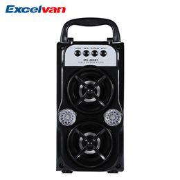 O orador do bluetooth do orador do alto-falante de EXcelvan MS-204BT Output de alta potência portátil FM Bluetooth sem fio apoia MP3 TF / SD em Promoção