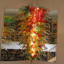 Simple Design For Kitchen NZ - Antique Indoor Lighting Led Light Simple Designed Dale Chihuly Style Hand Blown Murano Glass Chandeliers Lightings for sale