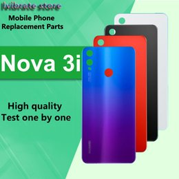 i glasses Australia - New glass Battery Back Rear Cover Door Housing For Huawei Nova 3i Battery Cover For Huawei Nova3i Nova 3 i shell Replacement