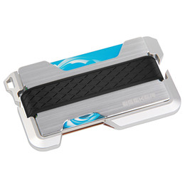 $enCountryForm.capitalKeyWord UK - New Design Aluminum Metal Rfid Blocking Credit Card Holder Genuine Leather Minimalist Card Wallet For Men
