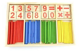 Counting Blocks Australia - Baby Toys Counting Sticks Education Wooden Toys Building Intelligence Blocks Montessori Mathematical Wooden Box Chil Gift