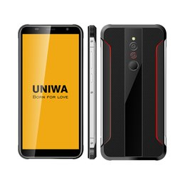 rugged phone android indonesia UK - Uniwa X5 Smart Phone Rugged Style 5.5 inch IPS screen Quad Core 1GB 16GB Rom android 6.0 smartphone