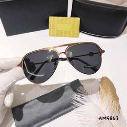 $enCountryForm.capitalKeyWord Australia - New fashion High Quality Classic Pilot Sunglasses EA Brand Mens Womens Sun Glasses tom Eyewear Gold Metal Glass Lenses Case belt gg 9863